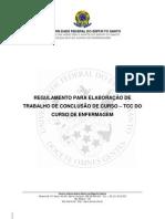 Enferm-Regulamento de TCC Enfermagem