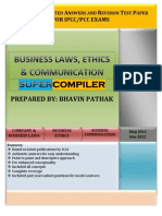 Business Laws, Ethis & Communication Super Compiler
