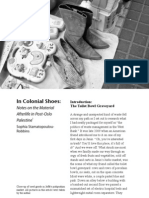 Jerusalem Quarterly Winter 2011 [in Colonial Shoes -- Notes on the Material Afterlife in Post-Oslo Palestine]