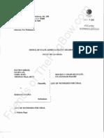 2012-01-13 Farrar List of Witnesses for Trial