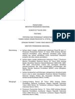 Permendiknas No. 52 Tahun 2009_Kriteria Dan Perangkat Akreditasi TK-RA