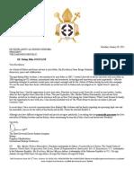 Letter To His Excellency Ali Bongo ONDIMBA RE Bishop Mike Jocktane 012812