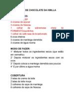BOLO DE CHOCOLATE DA KMILLA