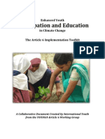 Enhanced Youth Participation and Education in Climate Change