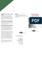 Cystic Fibrosis Patient Pamphlet