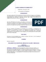 Reglamento - Ley del Mercado de Valores y Mercancías  ACUERDO GUBERNATIVO NUMERO 557-97