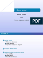 Michele Burrello- Kitaev Model