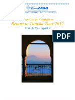 Peace Corps Volunteers Return to Tunisia Tour 2012 March 25 – April 4