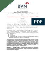 REGLAMENTO INTERNO DE BOLSA DE VALORES NACIONAL, S.A.