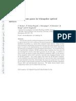 C Becker et al- Ultracold quantum gases in triangular optical lattices