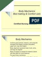 CNA Body Mechanics Bed Making Comfort Care