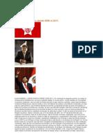 Presidente Del Peru Desde 2006 Al 2011