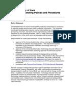Credit Card Handling Policies and Procedures