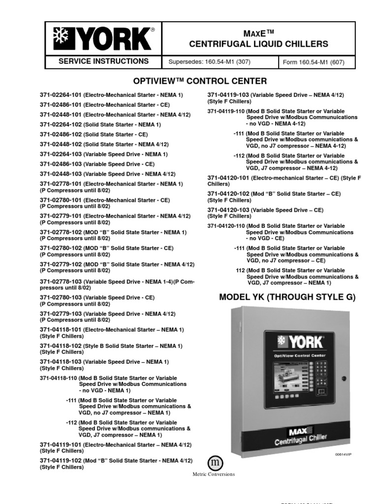 1509865995 160 54 m1 optiview control center service instructions relay york yk chiller wiring diagram at soozxer.org