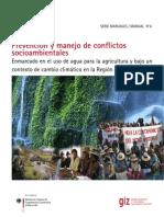 Manual de prevención y manejo de conflictos socioambientales
