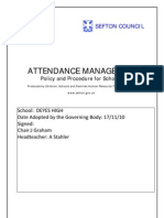 Attendance Support Policy