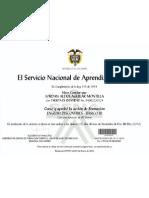 Certificado # I