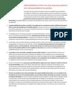 Los Partidos Politicos y La Gobernabilidad en El Peru Con Vistas Al Proceso Electoral Del 2011