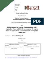 Automatisation Regulation Aerocondenseur Vapeur Rapport Projet Cad