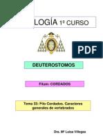 Tema 33 CORDADOS. VERTEBRADOS