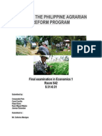 State of the Philippine Agrarian Reform Program