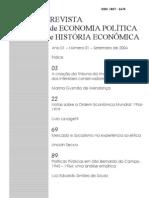 REVISTA DE ECONOMIA POLÍTICA E HISTÓRIA ECONÔMICA_n1
