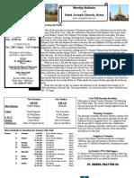 St. Joseph's January 15, 2012 Bulletin