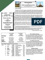 St. Joseph's January 22, 2012 Bulletin