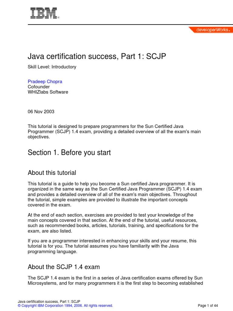 Java Certification Java Scjp Class Computer Programming