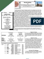 St. Michael's January 15, 2012 Bulletin