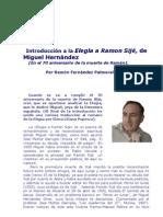 Introducción a la Elegía a Ramon Sijé