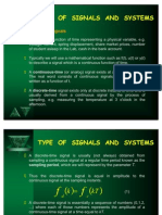Type of Signals and Systems