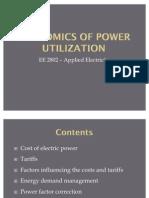 Economics of Power Utilization - 10th Batch