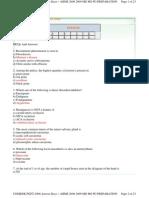 Answer Keys of Comedk Pget-2008