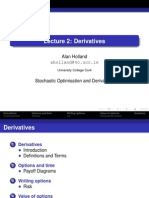 Lecture 2 Derivatives