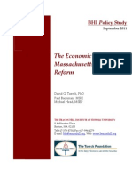Romney Care - BHI Mass Healthcare Econ 2011-0915