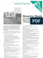 NZ Shearing Sheds Construction or Renovation 1981