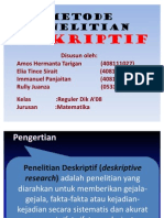 METODE PENELITIAN DESKRIPTIF