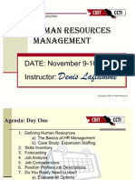 Human Resources Training for the Non-HR Manager