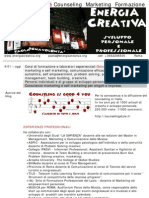 Curriculum Counseling Marketing Formazione
