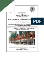 Msc Mtech Prospectus
