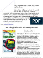 The Energy Non-Crisis by Lindsey Williams