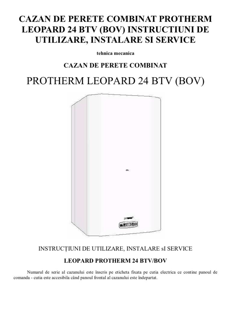 Carte Tehnica Protherm Leopard 24 Btv