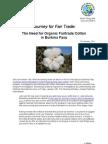 The Need for Organic Fairtrade Cotton in Burkina Faso