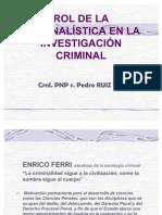 Criminal is Tic A en La Investigacion Criminal