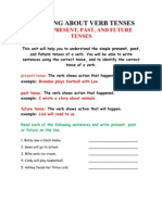 Learning About Verb Tenses