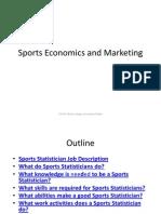 Sports Economics and Marketing