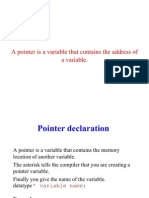 Pointers in c Presentation