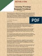 Amazing Warning of Benjamin Freedman