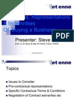 contractswarrantiesindemnitiesrepresentations-124815568198-phpapp01